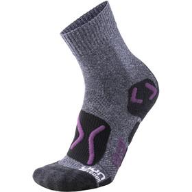 UYN Trekking Outdoor Expl**** Socks Women Grey Melange/Violet